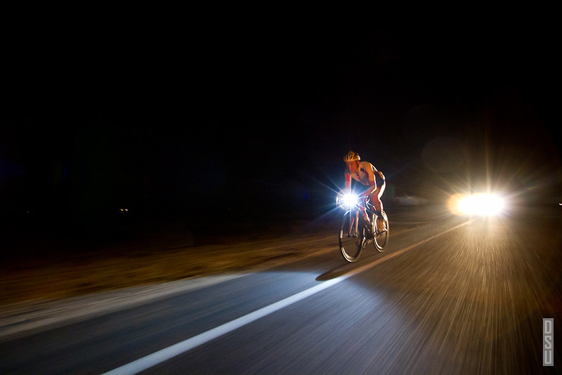 Adam continued to ride through the night with the temperature dropping to around 35°F.