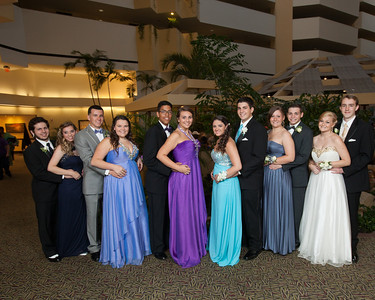 Britney's Giordano and classmates before the Prom