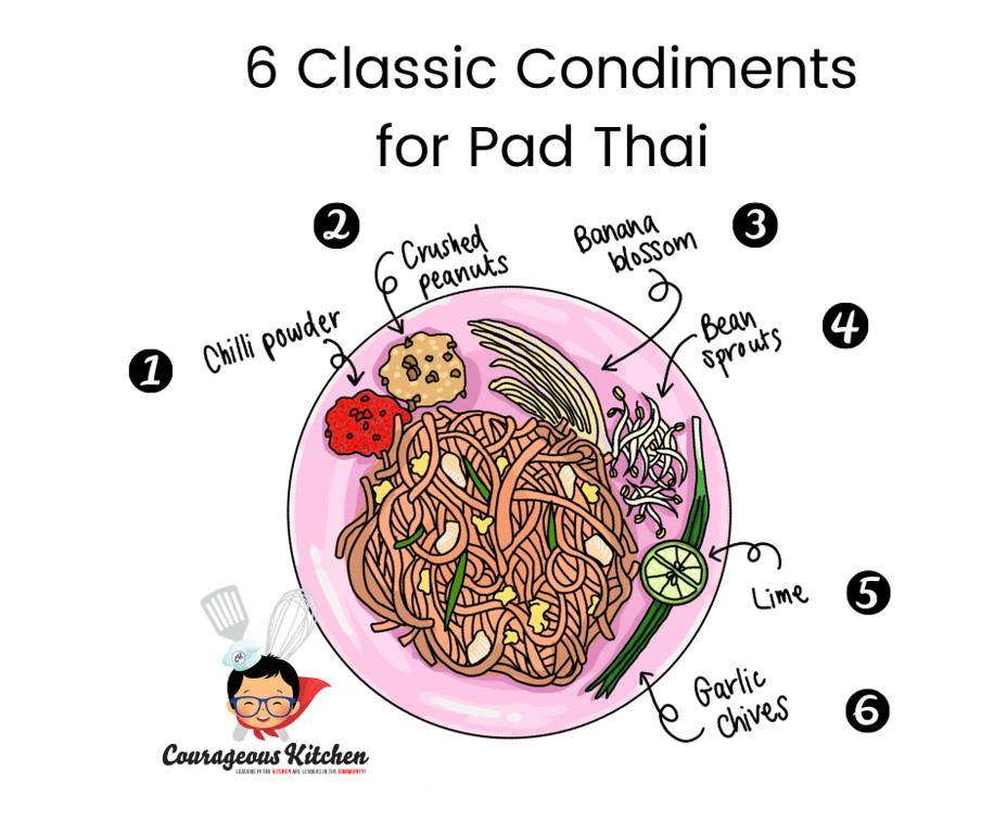 Classic Pad Thai Condiments