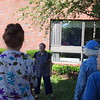 Joanne Shaughnessy (front left) leads the tai chi class where every person is free to move at her own pace. -- photo by Mary Leach
