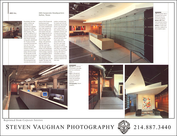 "HKS, Dallas TX, as published in ""Corporate Interiors""."
