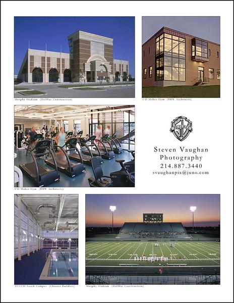 School sports facilities.