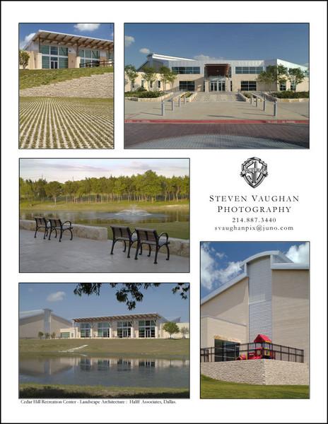 Cedar Hill Recreation Center for Halff Associates, Dallas.