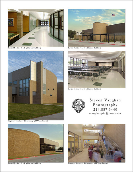 School projects for BRW Architects and Charter Builders.