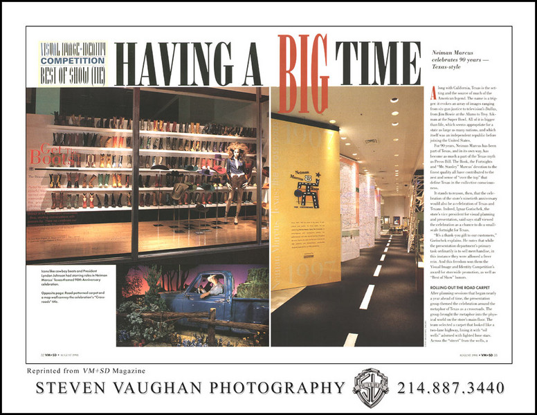 Neiman Marcus (downtown Dallas), as published in VM+SD magazine.