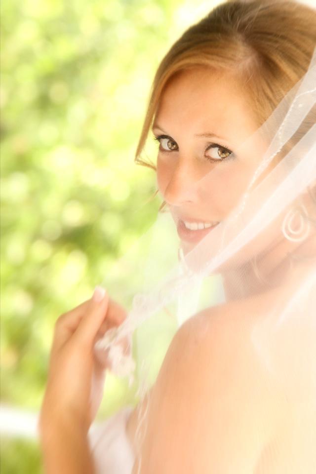 Bride Behind the veil, left shoulder