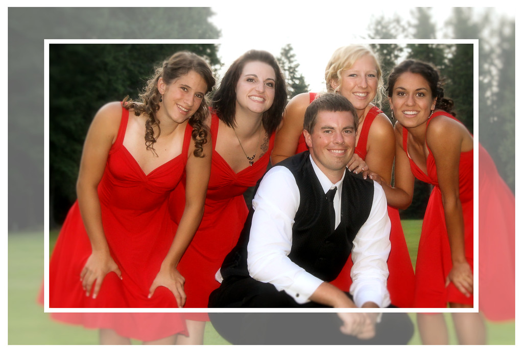 Bridesmaids and the Groom