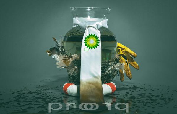 Photo Illustration of the BP oil spill.