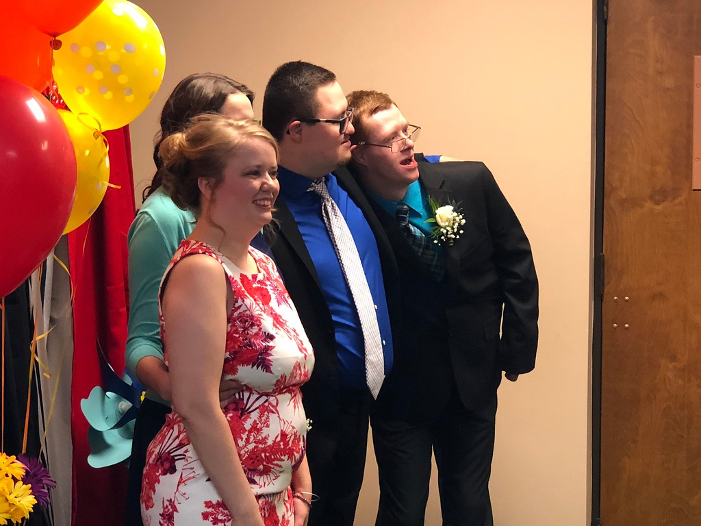 . Posing for portraits, which were provided, at the Lake Orion United Methodist Church and its Special Needs prom on Friday, May 11, 2018. Stephen Frye / Digital First Media.