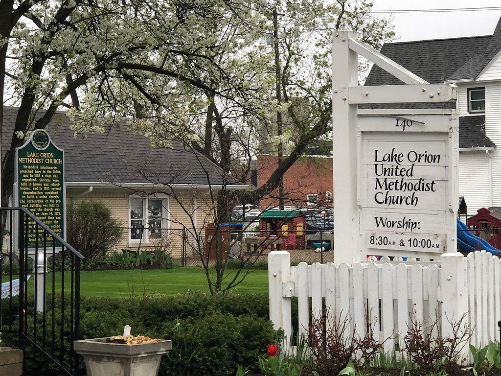 . Lake Orion United Methodist Church in downtown Lake Orion. Stephen Frye / Digital First Media.