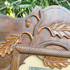 Frame hand-carved by Alfred Nunberg, as noted on reverse (next frame). He used wood from a fruit crate for the project.