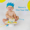 Reeve is 1 year old:  Cake Smash and Bubble Bath :