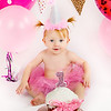 Ruby Sue is 1 Year Old:  Cake Smash and Bubble Bath :