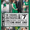 Save the Date cards created from their engagement portraits - FRONT