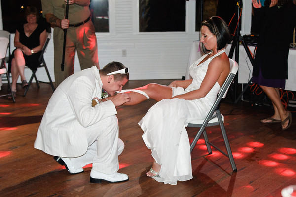 Bride and Groom Garter Toss