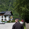 Welcome to Hallstatt....you will notice the tram tracks in front of Dave.  We rode that to go up to the mine.