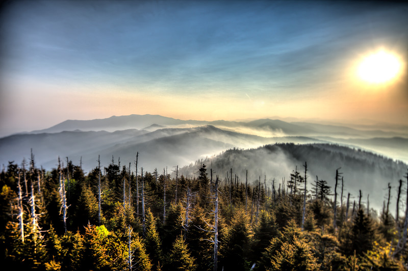 Clingmans Dome Sunrise Smoky Mountains