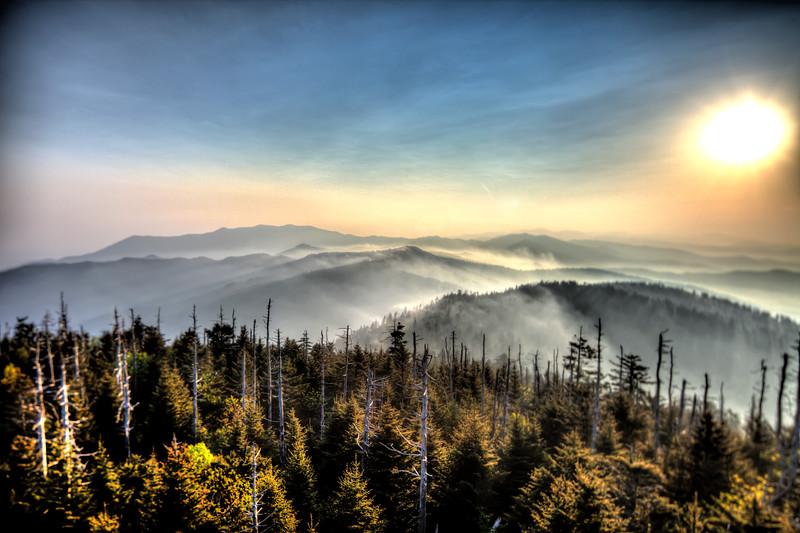 Clingmans Dome Sunrise Smoky Mountains