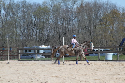Desiree riding Toni