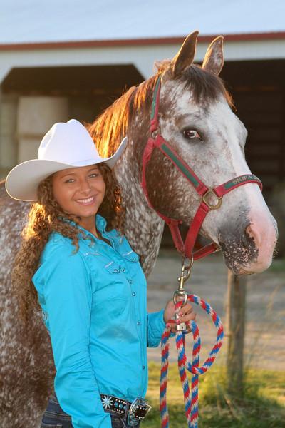 Ashley and Albert at J bar ranch rodeo