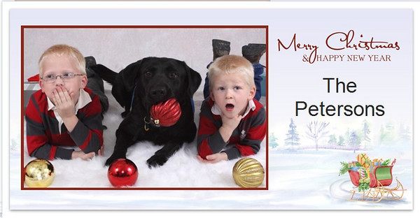 2009 Christmas Card Proofs