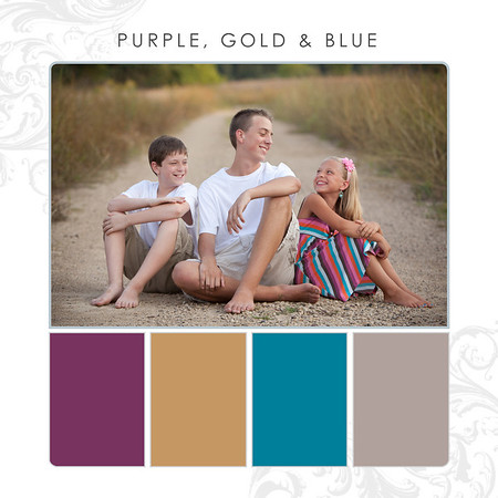 Purple-Gold-Blue