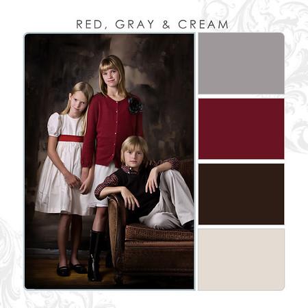 Red-Gray-Cream