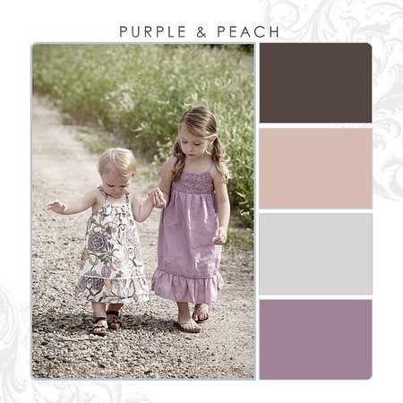Purple-Peach