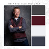 Deep Red-Blue-Gray