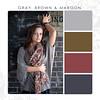 Gray-Brown-Maroon