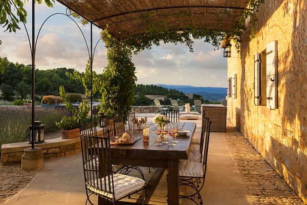 Patio; Bonnieux, Provence, France
