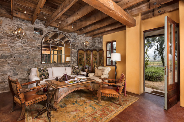 Living Room; Blue Rock Vineyards, Cloverdale, California, United States