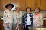 Rose Garden Circle members<br /> Christine Henry, Dot Adler, Dottie Schiffmacher and Audrey Marston