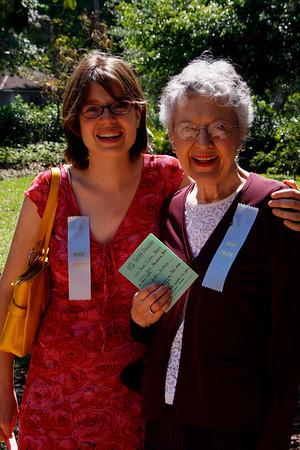 Amy Kimbel and Rose Garden Circle's President Elect Phyllis Kimbel