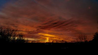 Sunset January 20, 2013