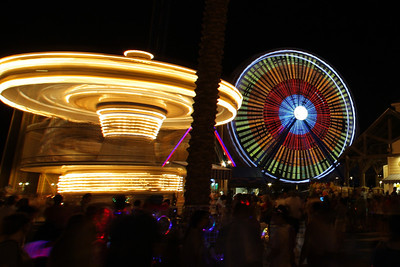 Amusement Park Night Life-