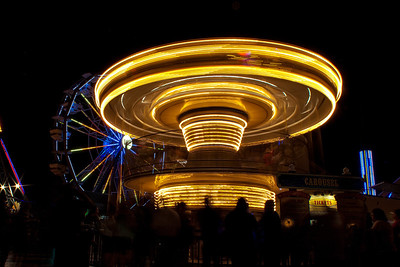 Amusement Park Night Life--11