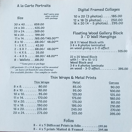 2 Page 2 Sr  Price List