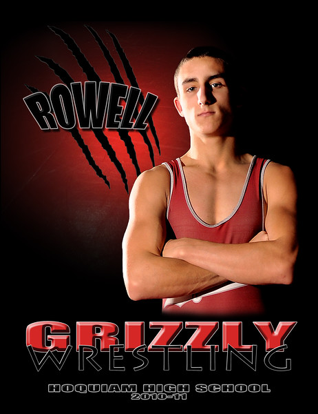 HHS Wrestling 10x13 Rowell Poster
