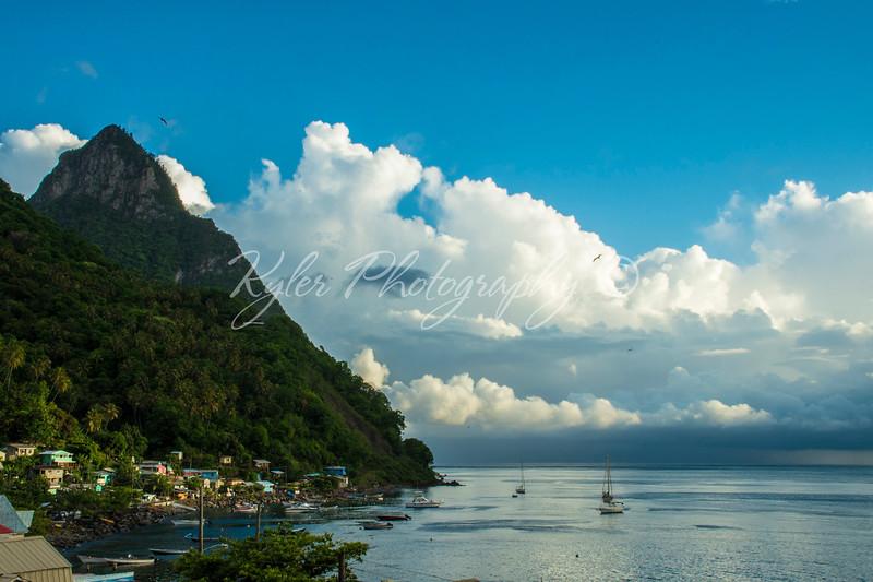 Piton beach St  Lucia