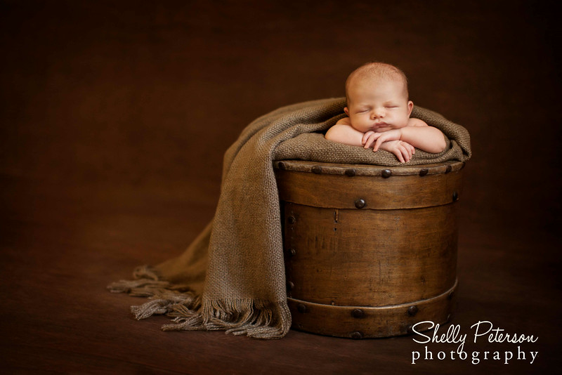 Mongolian Wood Milk Bucket - Neutral Color Palette