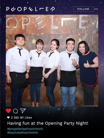 Propeller Rooftop Bar @ Bay Hotel Ho Chi Minh Grand Opening instant print photo booth - in ảnh lấy liền sự kiện Khai trương tại TP. HCM