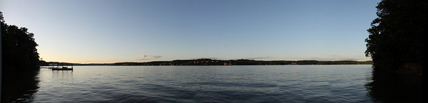 Nearly 180 degrees of view from the dock