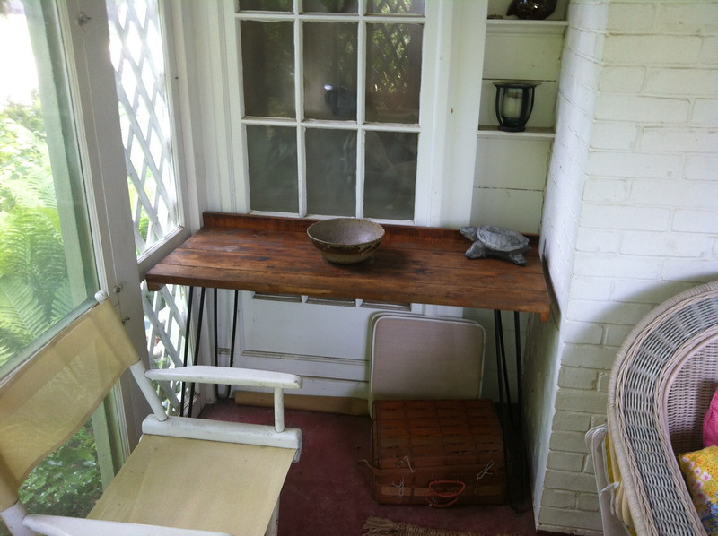 Table on sun porch