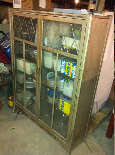 Cabinet in basement