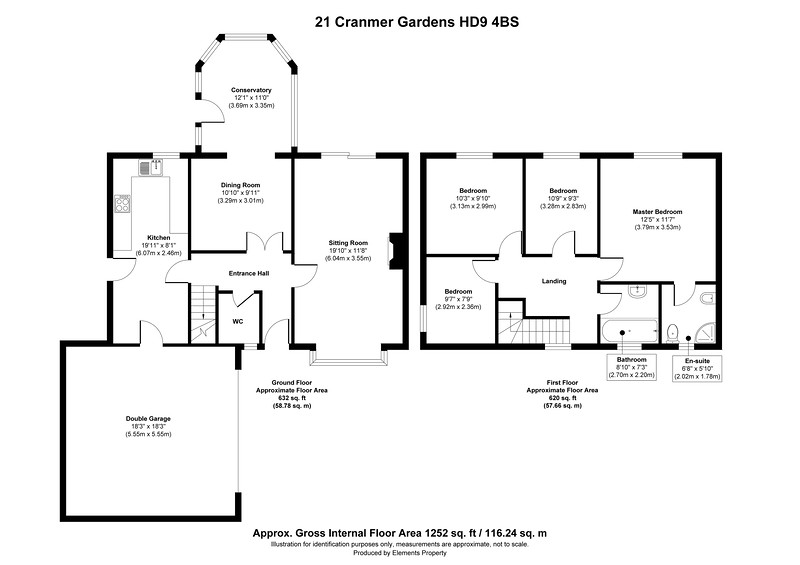 21 Cranmer Gardens HD9 4BS