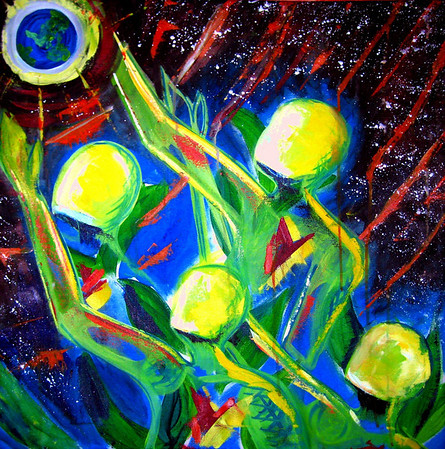 "Fully Alive<br /> 30""x 30""<br /> Acrylic<br /> Master: $420.00<br /> Prints: inquire"