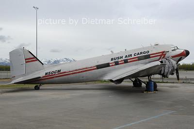 2012-05-21 N50CM Daouglas DC3 Bush Air Cargo