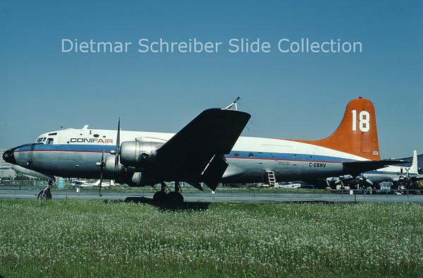 1986-06 C-GBNV Douglas DC4 (C-54G-5-DO) (c/n 35988) Conifair Aviation