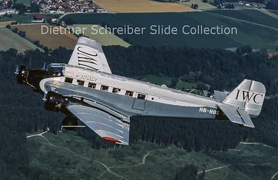 2013-08 HB-HOS Junkers JU52/3M G4E (c/n 6580) JU Air